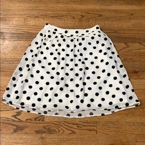 J. Crew | Black/White Polka Dot Skirt sz:00